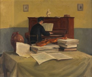 Musicerende monnik,1949 Luc-Peter Crombé