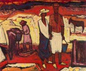 Marokkaans koppel in Atlas, Luc-Peter Crombé