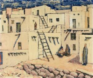 Bergstadje in Marokko, Luc-Peter Crombé