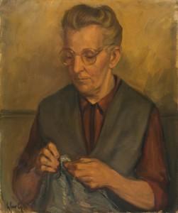Portrait van moeder, Luc-Peter Crombé