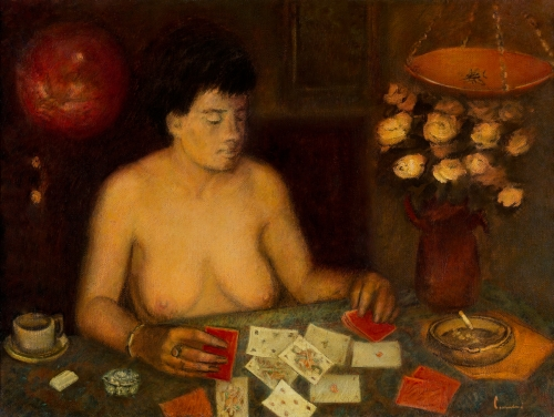De kaartlegster, Luc-Peter Crombé